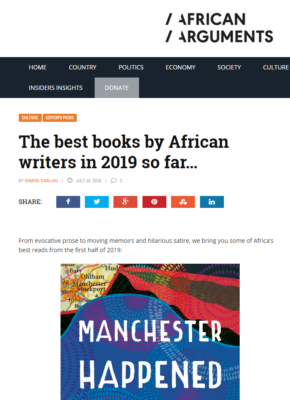 Best African Books Of 2019 African Arguments Myriad